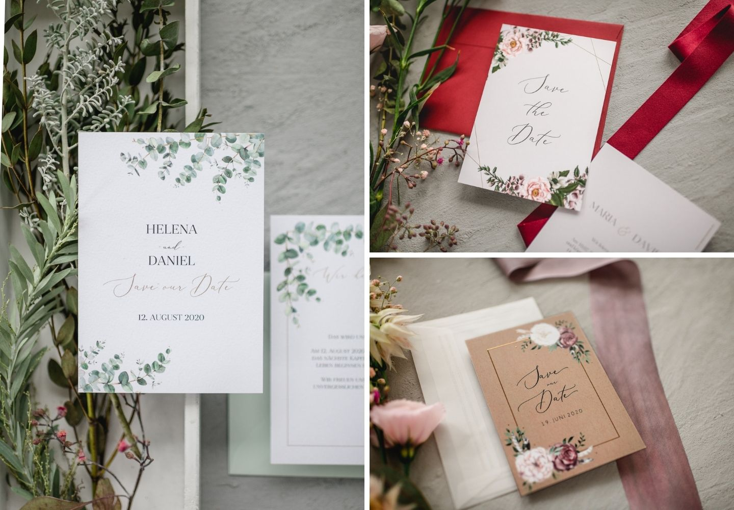 Save-the-Date Karten im floralen Stil