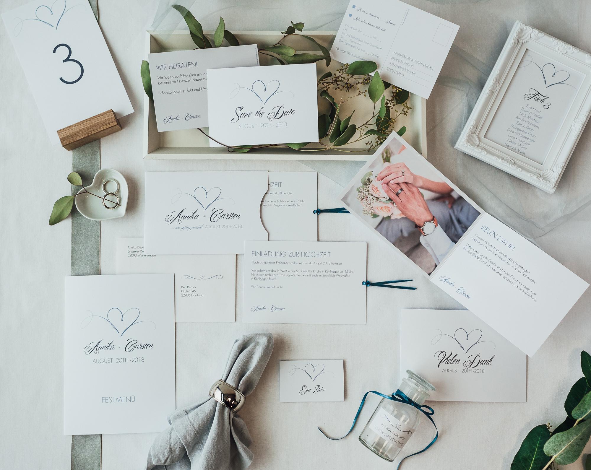 Zeit Guide Hochzeitskarten