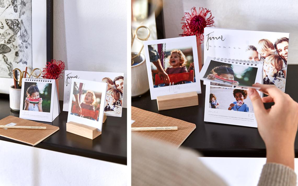 Tischkalender als Fotogeschenke Ideen zu Weihnachten: Erinnerungen aus dem Jahr für eure Liebsten