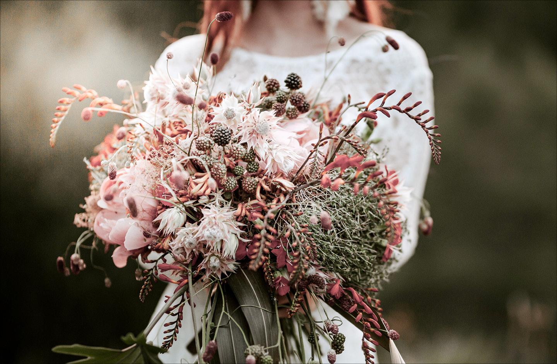 Hochzeitsdesko-Trend 2021: Blumen in Pastellfarben