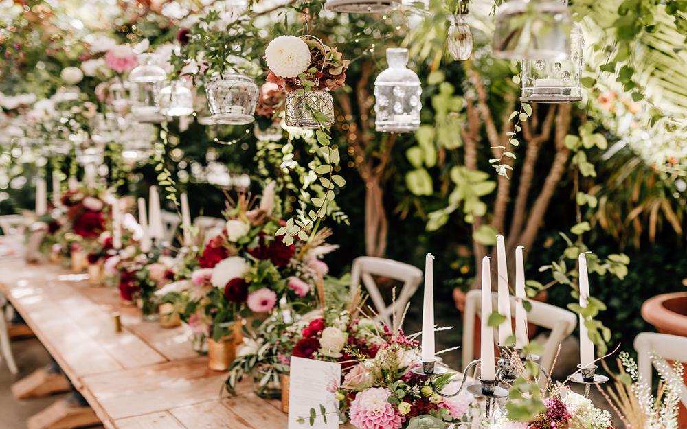 Rustikaler Hochzeitstisch
