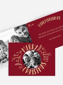 Weihnachtskarte gestalten