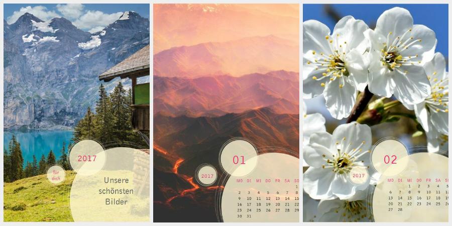 Kreise-Fotokalender der Kartenmacherei: Natur