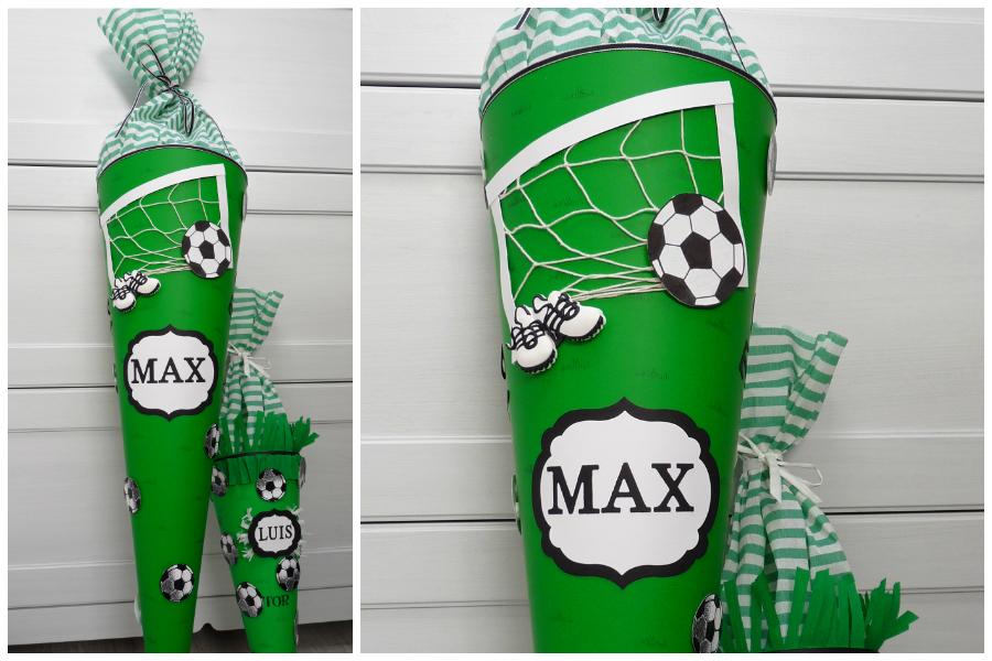 Fußball-Schultüte von Lenaspapierzauber