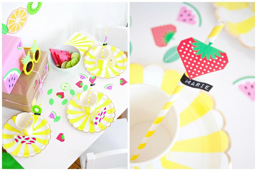 Kindertisch im Früchte-Stil