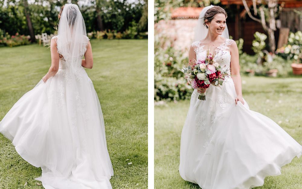 Junge Frau im Brautkleid