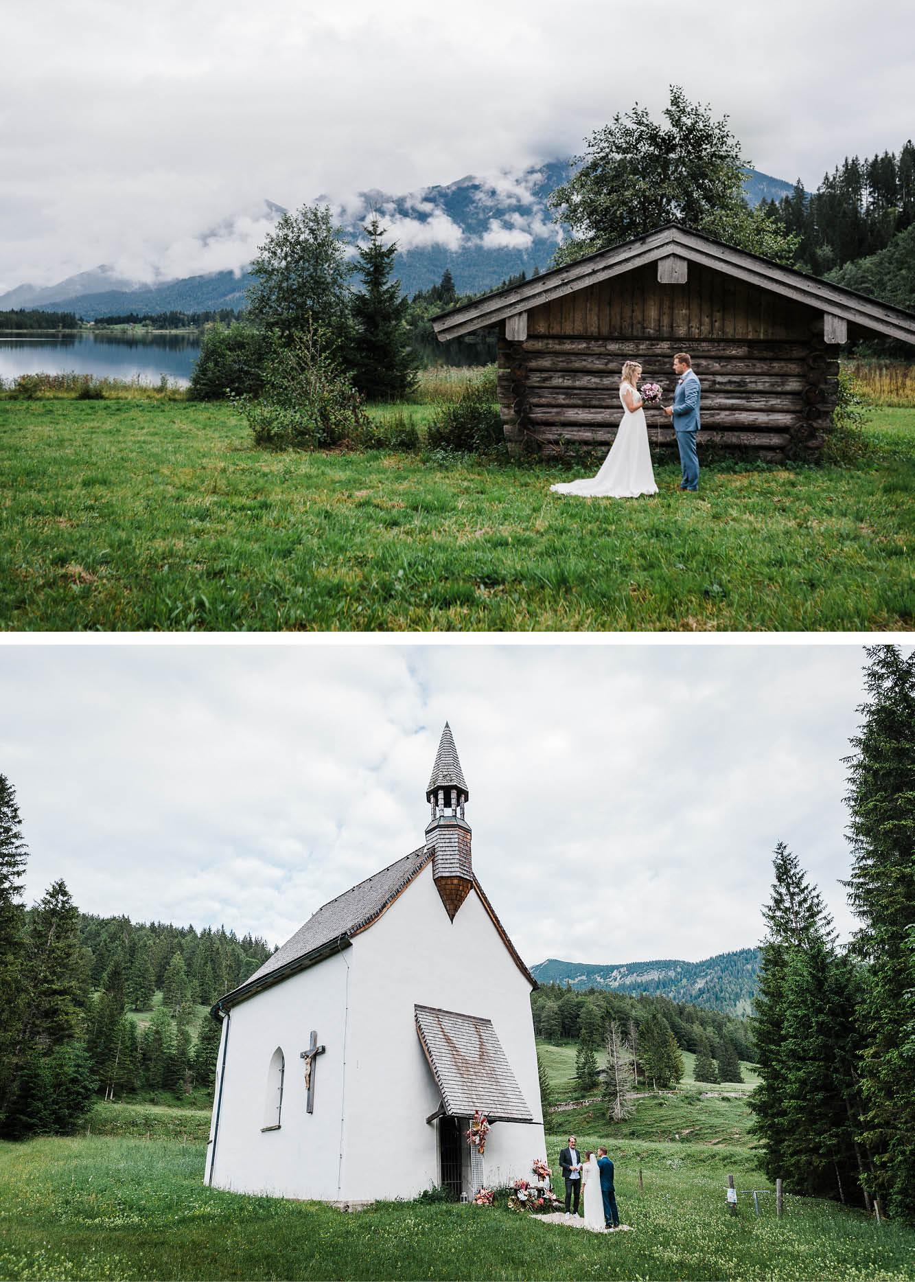 Elopement in den Bergen, Kirche