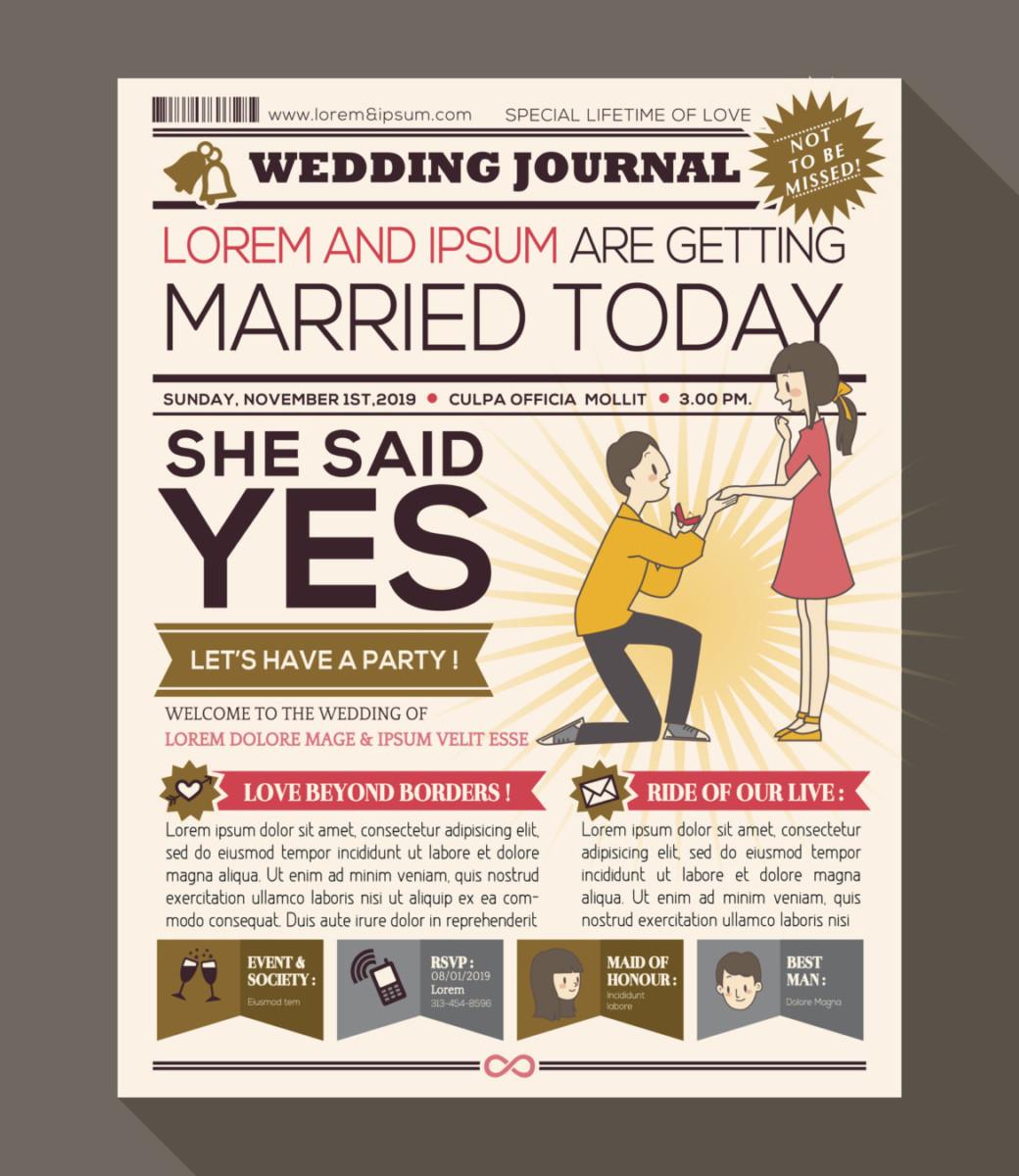 Hochzeitszeitung: Ideen und Inspiration für ein unvergessliches