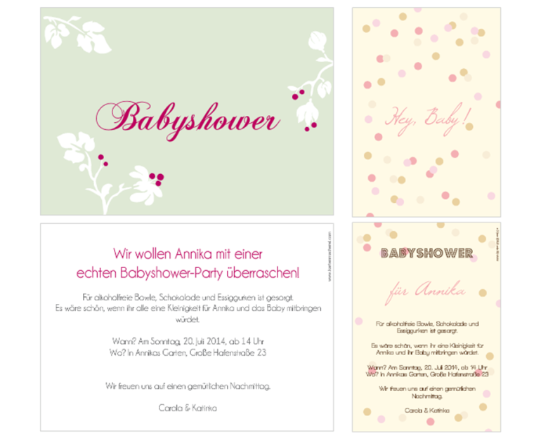 kartenmacherei babyshower