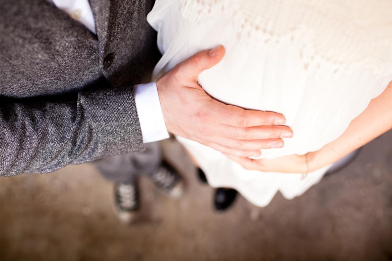 Wunderschön im achten Monat: Mareike und Timo heirateten ganz ...