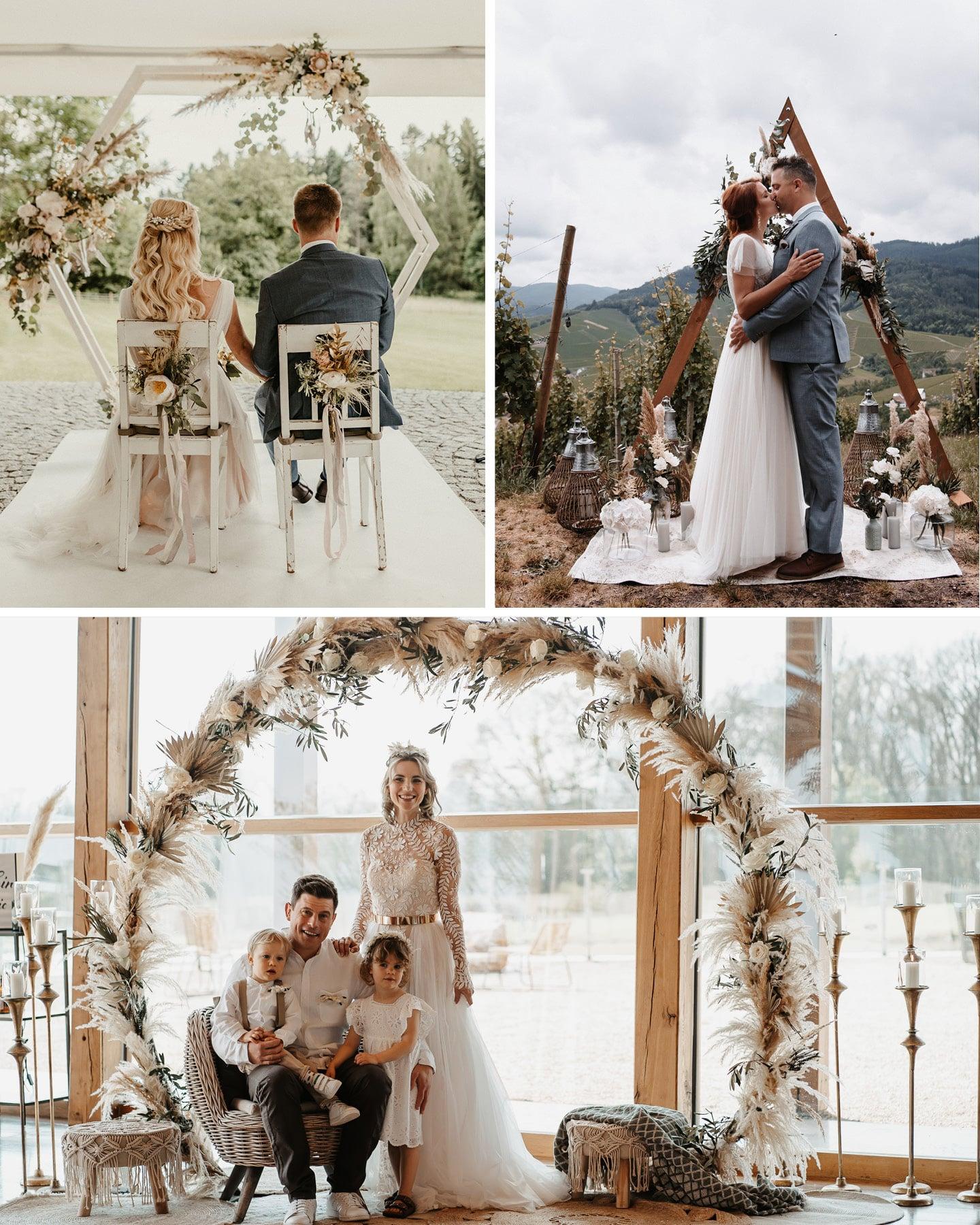 Hochzeitsdeko Trends 2021: Pampasgras