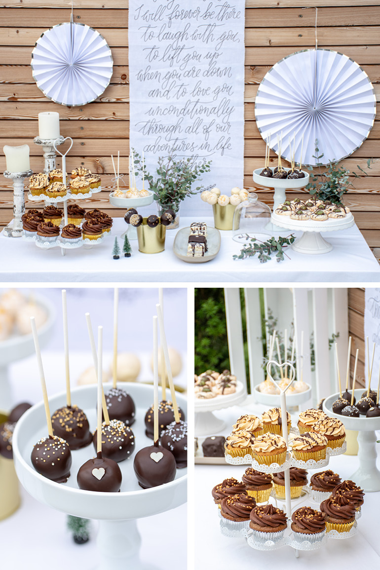 Hochzeitstorte selber backen DIY Sweet Table Candy Bar Kartenmacherei