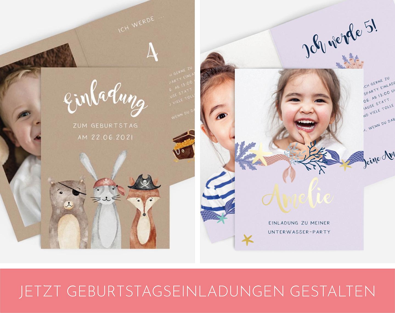 Einladungskarten zum Kindergeburtstag