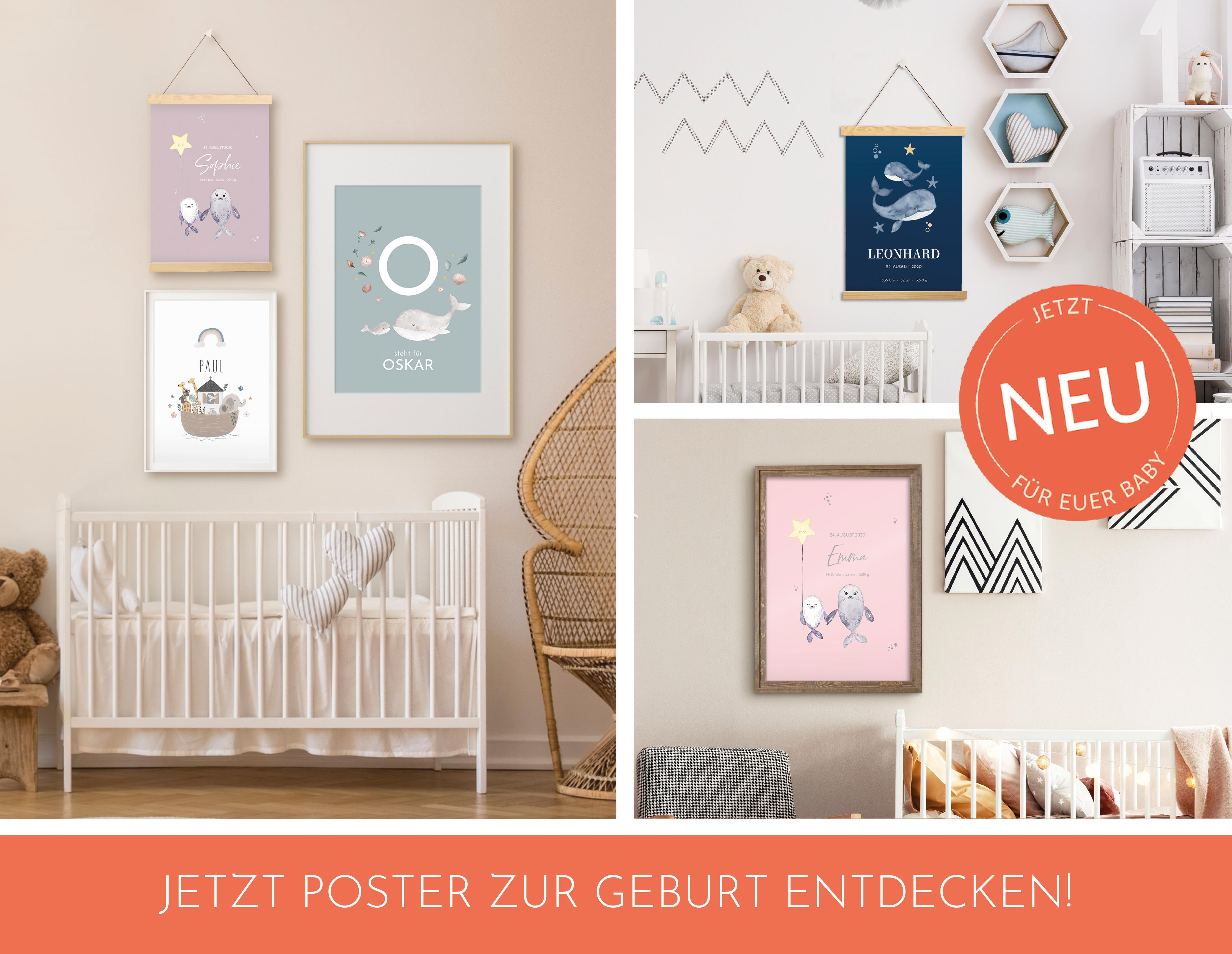 Individualisierte Poster zur Geburt des Kindes