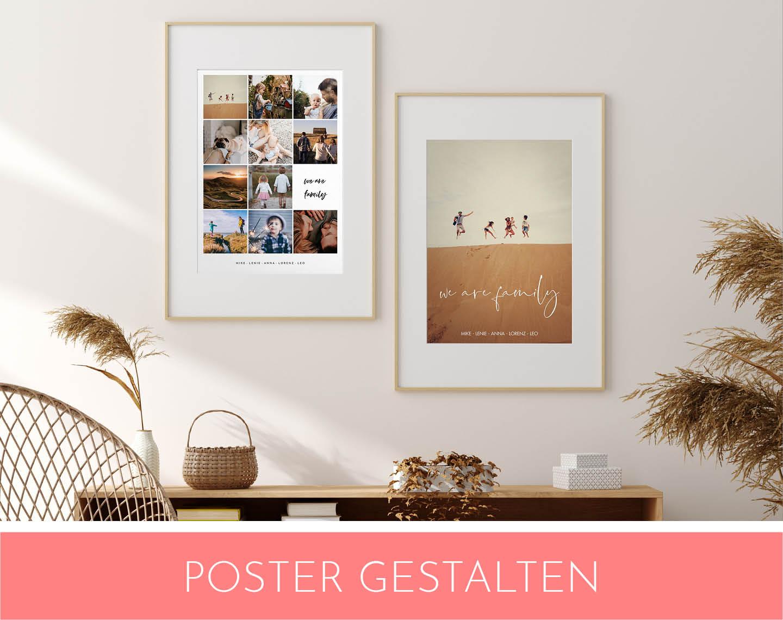Poster mit Erinnerungsbildern als Fotogeschenke Idee