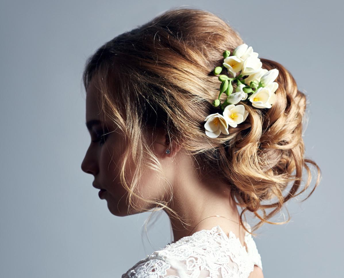 Hochzeit Haarschmuck Brautfrisuren Mit Blumen Diadem Und