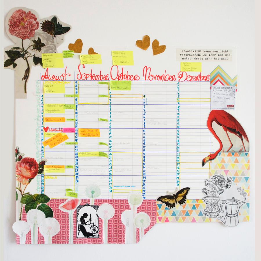 DIY-Wandkalender von Anita Scheiner