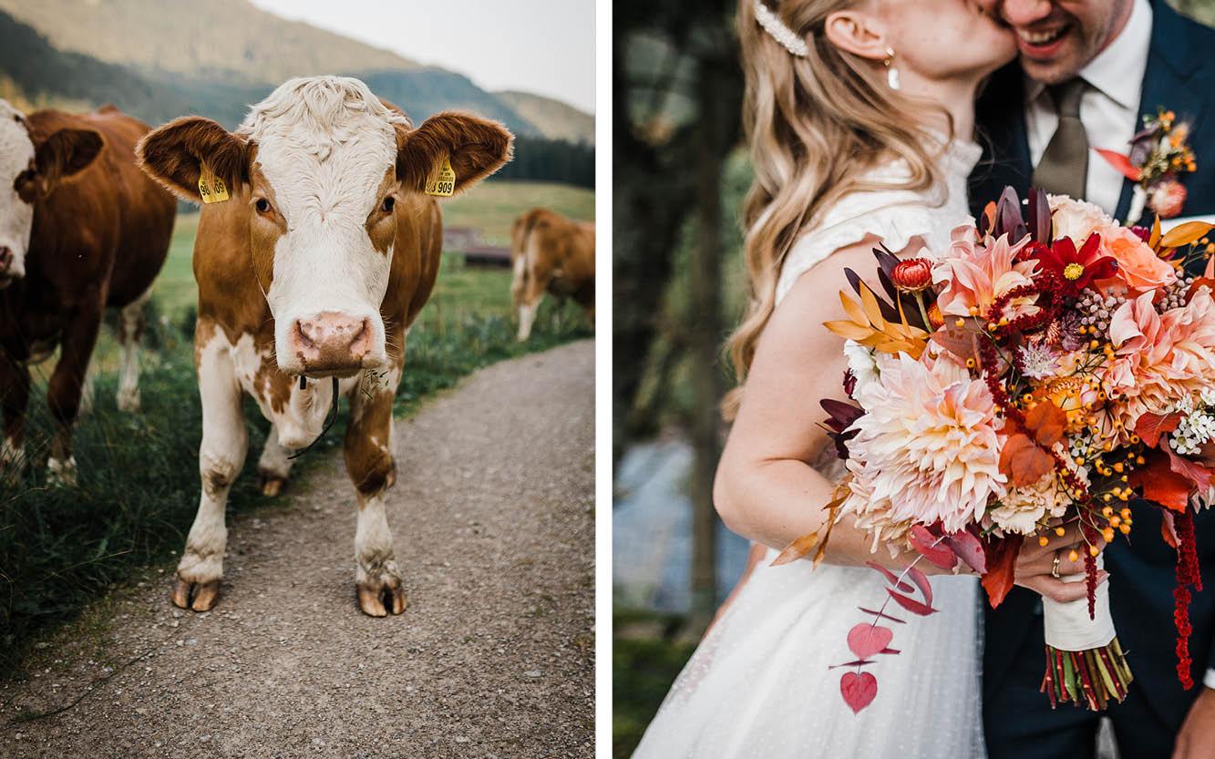 Kuh auf dem Berg, Brautstrauß