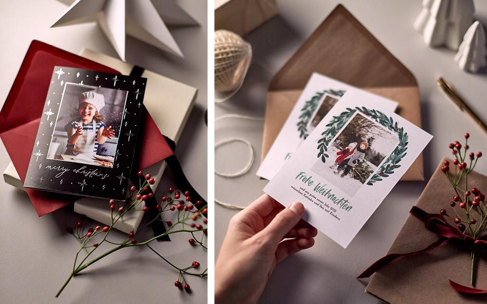 Weihnachtskarten mit persönlichen Bildern als Fotogeschenke Ideen