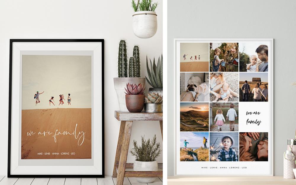 Fotogeschenke Fotoposter mit Familienmomente