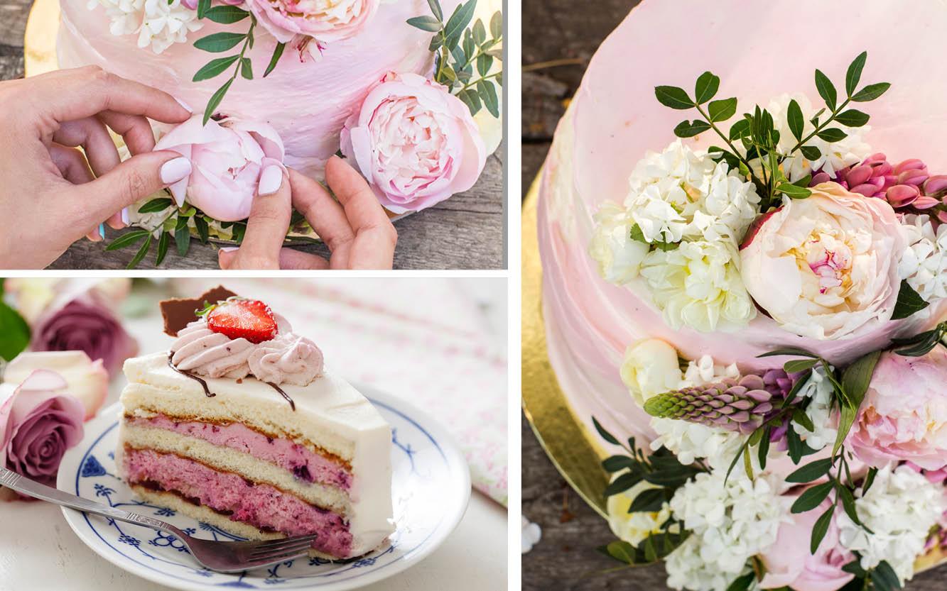 Rosafarbene Torte