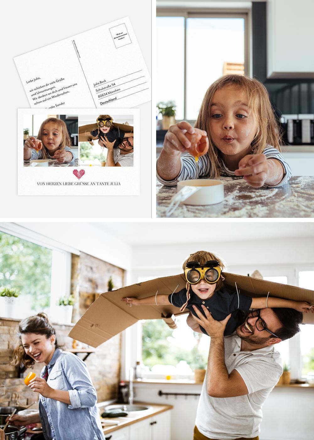 Postkarte mit Alltagsmomenten