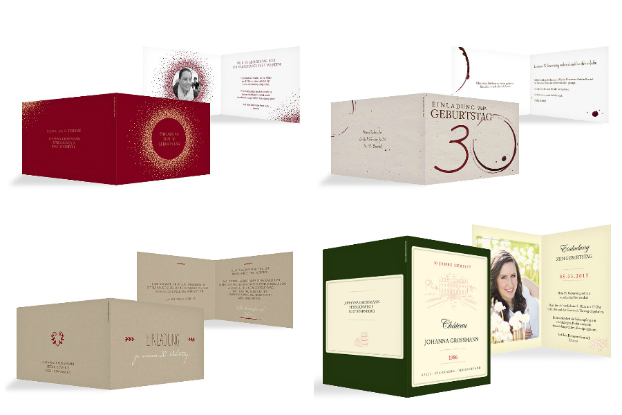 Einladungskarten Zum 30. Geburtstag Mit Dem Motto Weinparty