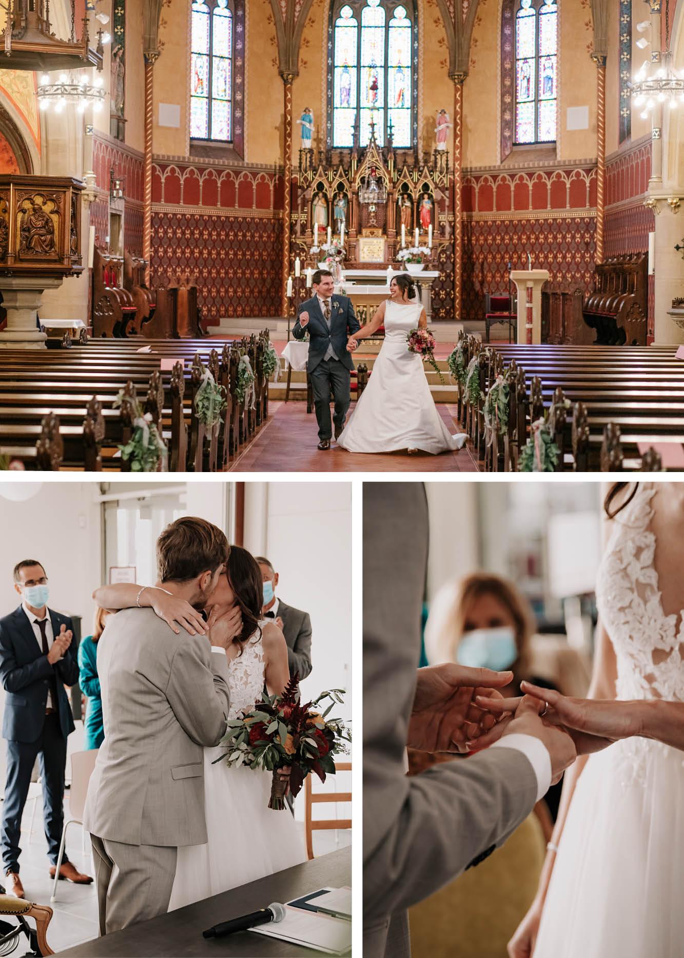 Hochzeit in der Kirche und im Standesamt