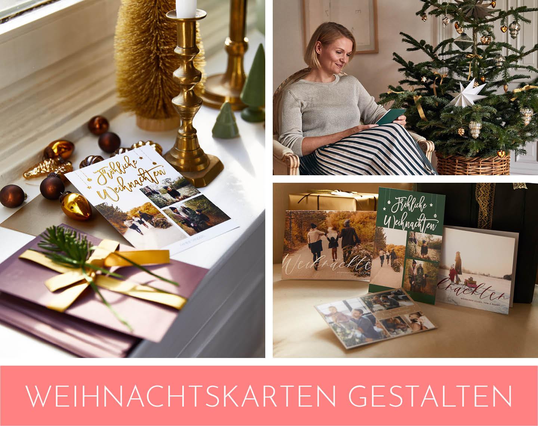 Collage mit schönen Weihnachtskarten als Weihnachtsgeschenk für Männer