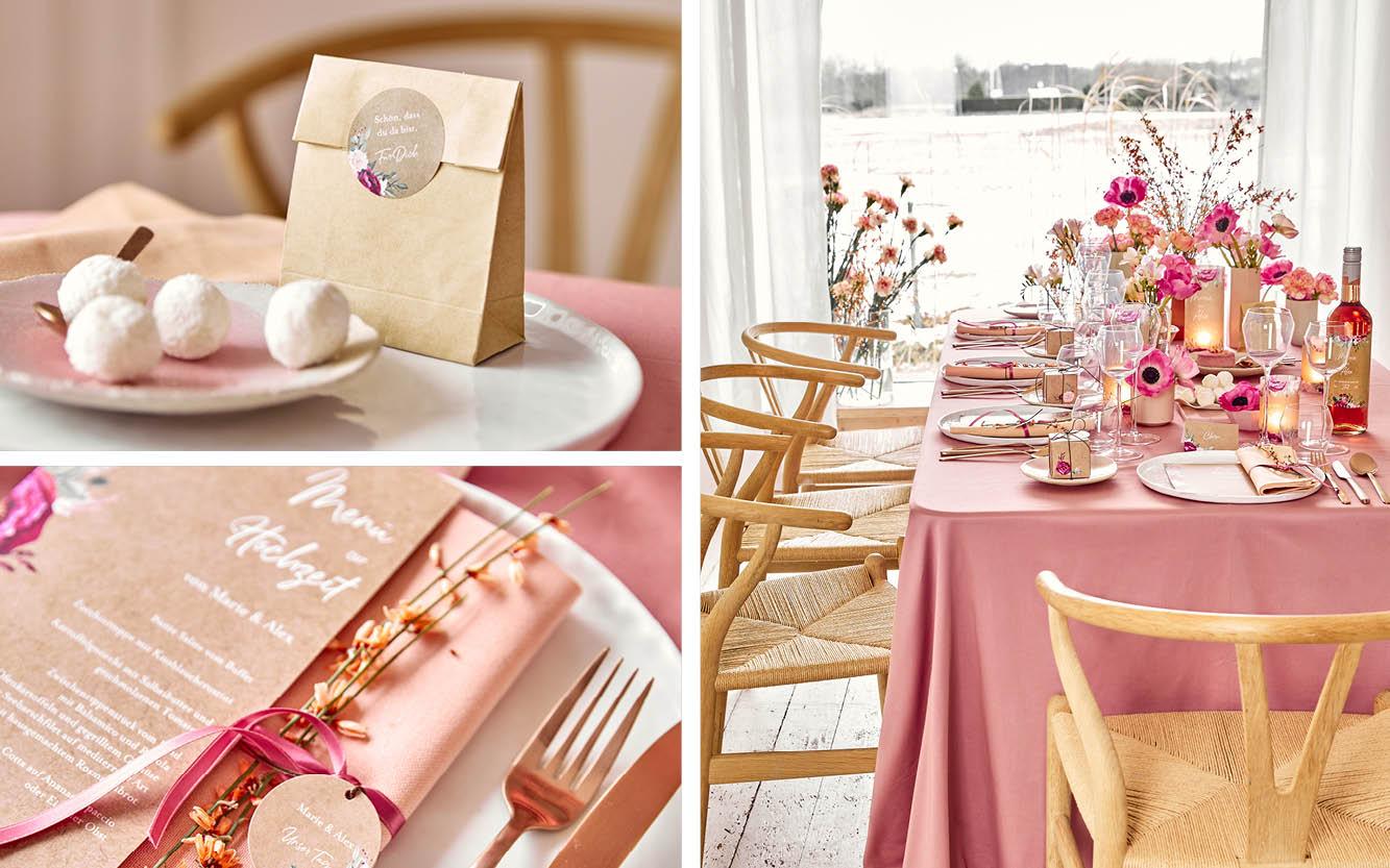 Hochzeitstisch mit Anemonen