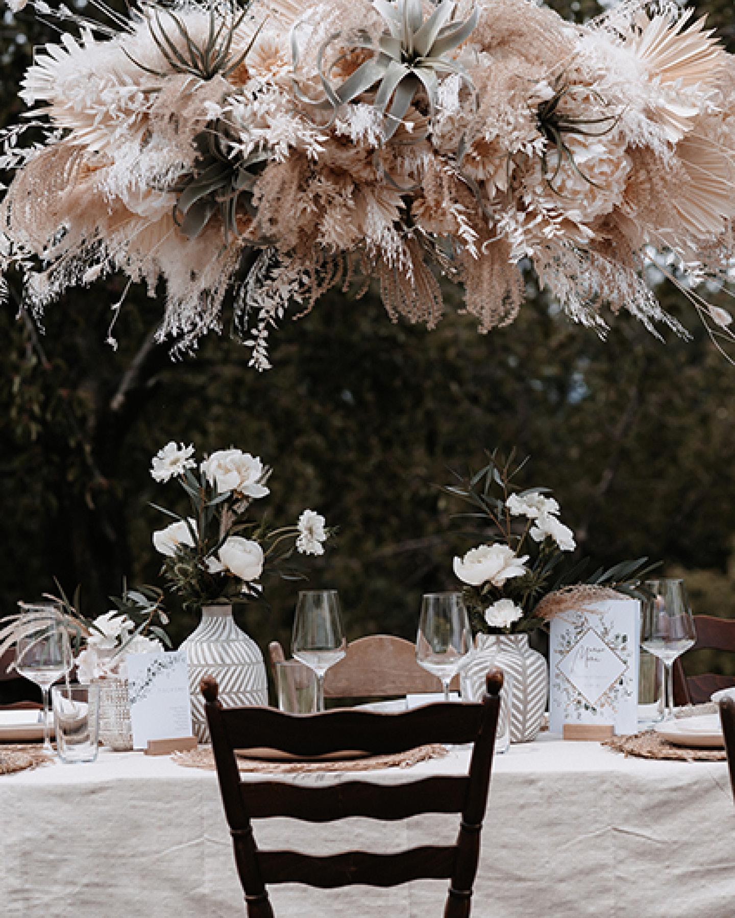 Hochzeitsdeko Trends 2021: Flower Cloud