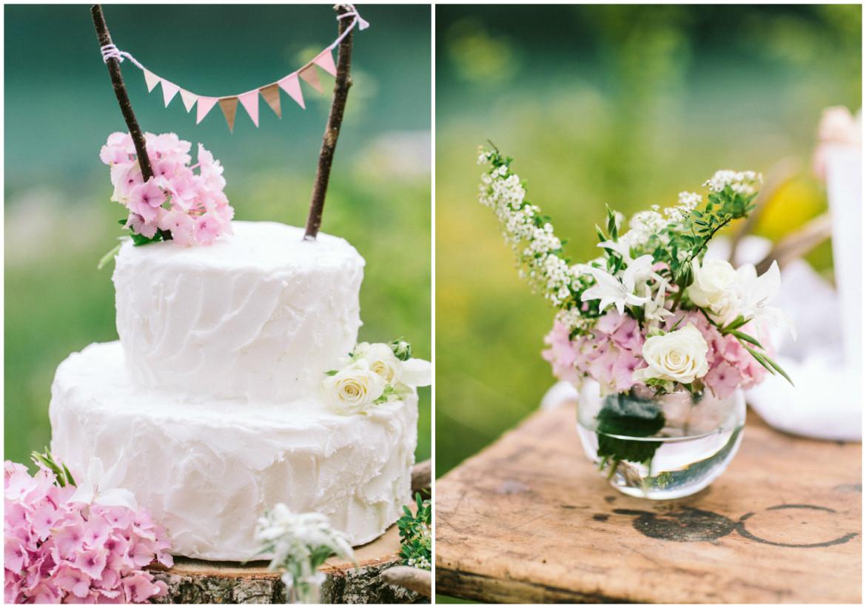 Torte Blumengesteck Tracht