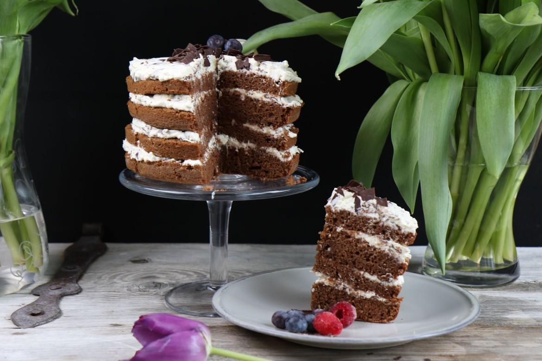 Mrs Flurys Schokoladen-Naked-Cake