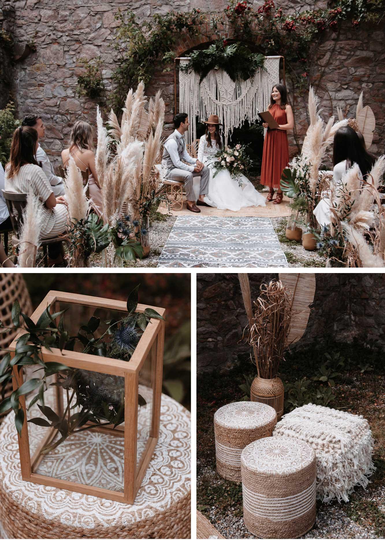 Kleine Hochzeit Boho