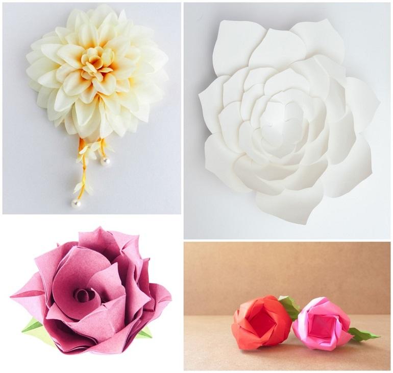 Tischdekoration hochzeit blumenschmuck selber machen - Papierblumen selber machen ...