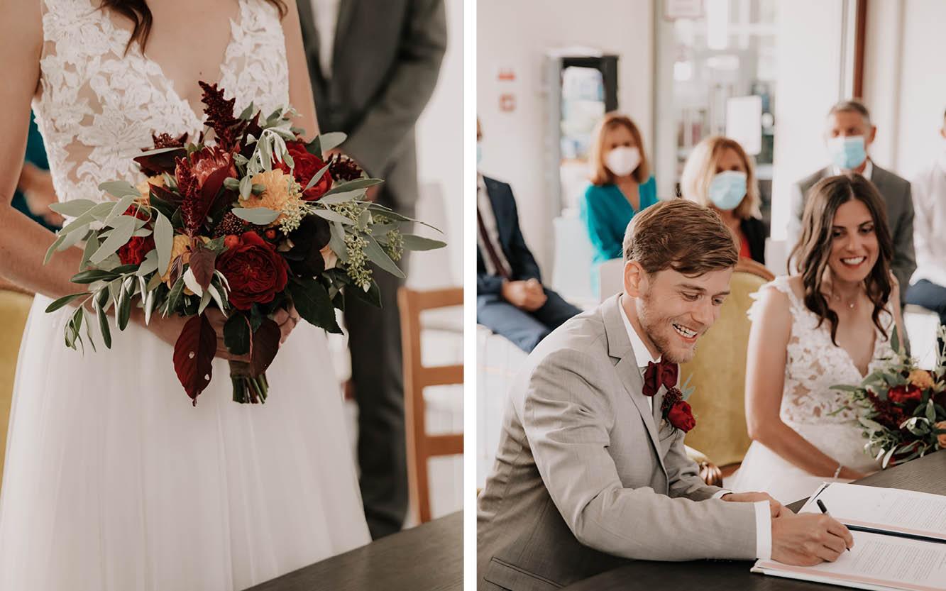 Hochzeit während Corona im Standesamt mit Hygienemaßnahmen