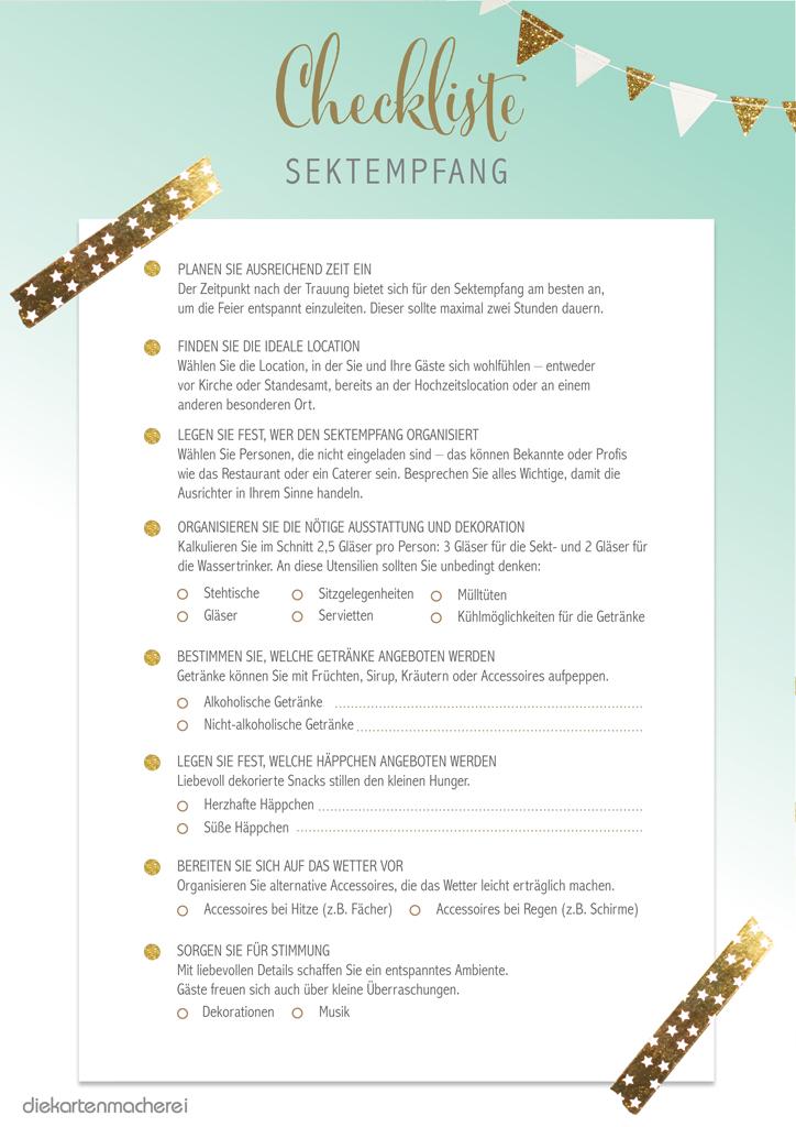 sektempfang organisieren: tipps & checkliste für ihre hochzeit, Einladungsentwurf