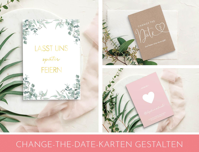 change the date Karten zur Hochzeit