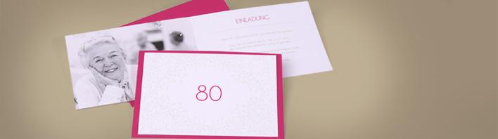 einladung zum 80 geburtstag einladungskarten gestalten. Black Bedroom Furniture Sets. Home Design Ideas