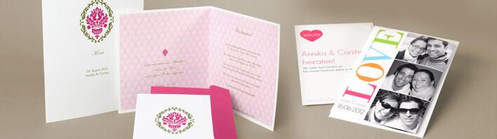 Hochzeitkarte online gestalten  Unsere Hochzeitkarten reichen von verspielt bis klassisch und modern
